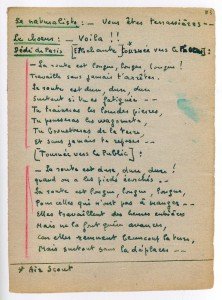 Livret du Verfügbar aux Enfers, page de l'acte II.